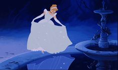 Cinderella's original dress before Disney made it blue for the princess franchise. I much preferred this colouring, it looked so magical, I wish Disney would go back to the old animation. Disney Magic, Disney Pixar, Disney E Dreamworks, Animation Disney, Art Disney, Disney Kunst, Disney Love, Disney Characters, Disney Ideas