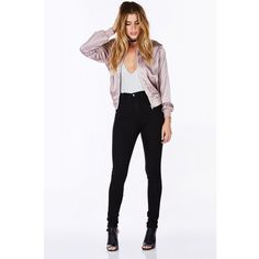 Love Spell Silky Bomber ($26) ❤ liked on Polyvore featuring outerwear, jackets, bomber style jacket, white jacket, summer bomber jacket, pocket jacket and zip front jacket
