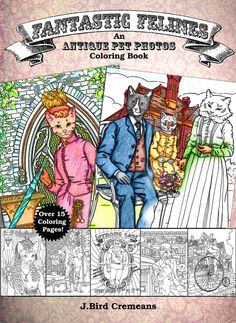 Fantastic Felines, Coloring Book, For All Ages, Anxiety Relief, Cat Colouring, Books for Kids, Adults Relaxation, Mindfulness Relaxing, Cute Cat Lover Gifts, Cat Gifts, Cat Lovers, Animals Images, Animal Pictures, Cute Pictures, Crazy Cat Lady, Crazy Cats, Big Cats