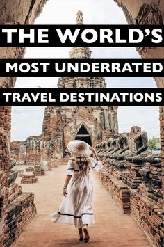 Outdoor Travel packing The Worlds 11 Most Underrated Travel Destinations Great article! Packed with really unique ideas for travel destinations I didnt even think about putting on my bucket list until now! Travel List, Solo Travel, Travel Guides, Travel Goals, Italy Travel, Travel Flights, Disney Travel, Italy Vacation, Ireland Travel