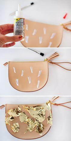 Gold Leaf Brushstrok