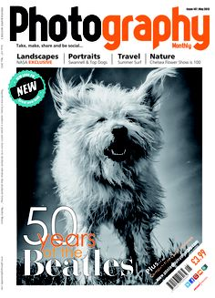 May issue of Photography Monthly. Top stories: Top dog portraits and Chelsea Flower Show special.