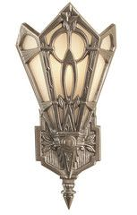 Zenith Reproduction Art Deco Wall Sconce Made in Canada | Turn of the Century Lighting