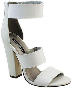 MICHAEL ANTONIO Michael Antonio Joxy Triple-Banded Chunky High-Heel Sandals
