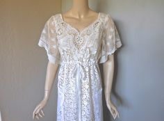 Drawstring+Caftan+Festival+Vintage+LACE+Maxi+Dress+by+MuseClothing,+$275.00