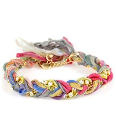 Ettika Multicolor Braided Bracelet #maxandchloe. Surely this is a simple bracelet to make?