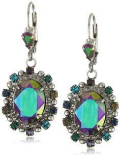 "Sorrelli ""Emerald City"" Bold and Elegant Crystal Silvertone  $72.5"
