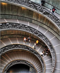 ramp/steps going down the Vatican