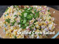 Grilled Corn Salad is a perfect side dish for summer BBQs. Start with fresh, sweet corn and grill it and turn it into a delicious corn salad. Green Egg Recipes, Corn Salad Recipes, Corn Salads, Roasted Corn Salad, Grilled Corn Salad, Real Cooking, Cooking On The Grill, Quick Healthy Meals, Healthy Recipes