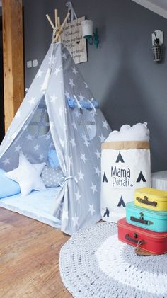 Teepee Set Kids Play Tent Tipi Playhouse Wigwam by MamaPotrafi