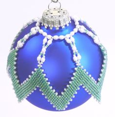Diagonal Peyote Ornament Cover