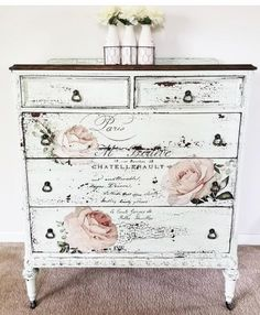 Retro Home Decor impressive inspirations - decor tips reference 1817084919 - Delightfully stunning decorating tips to organize and design a gorgeous yet exciting decor. retro home decor ideas shabby chic suggestions pinned on this day 20181216 Decoupage Furniture, Refurbished Furniture, Paint Furniture, Repurposed Furniture, Shabby Chic Furniture, Furniture Projects, Furniture Makeover, Shabby Chic Dressers, Furniture Decor