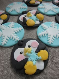 North Pole theme Cake Toppers by mimicafe Union http://mimicafeunion.blogspot.com