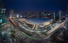 Dongdaemun Design Plaza (DDP) by Zaha Hadid Architects Seoul welcomes over 8.5 million visitors in its first year