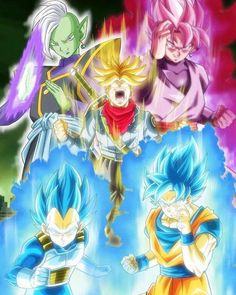 This would make an awesome Dragon Ball Super Poster! Dragon Ball Gt, Dragon Ball Z Shirt, Otaku Anime, Anime Manga, Anime Art, Black Goku, Dragonball Super, Zamasu Black, Goku Vs