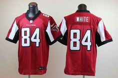 Nike Official Atlanta Falcons 84 Roddy White Red Elite Stitched Football Jersey