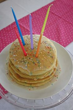 Ideas for a pajama party birthday party. http://www.thoughtfullysimple.com/a-birthday-breakfast-party/