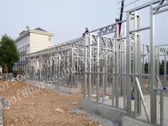 #Steel #prefab #house, ligth #steel #frame #hosue Steel Structure, Prefab, Second Floor, Steel Frame, China, Building, House, Home, Buildings