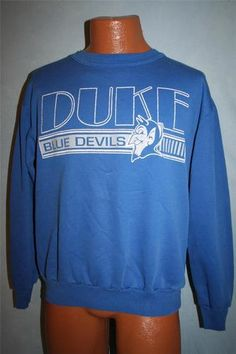 Vintage 1980s DUKE BLUE DEVILS 50/50 Soft Sweatshirt COLLEGE BASKETBALL Football
