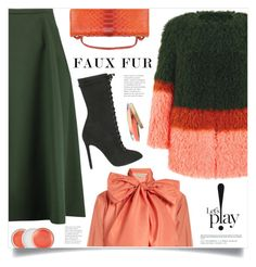 """Let's Play!"" by marina-volaric ❤ liked on Polyvore featuring Shrimps, Mafalda von Hessen, Jil Sander, Patricia Al'Kary, Clinique, Voz Collective and fauxfurcoats"