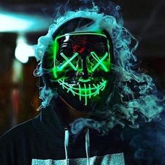 2018 Halloween Mask LED Light up Purge Mask for Festival Cosplay Halloween Costume Smoke Wallpaper, Cool Wallpaper, Screen Wallpaper, Halloween Masks, Halloween Make Up, Halloween Party, Halloween Photos, Marshmello Wallpapers, Neon Accessories