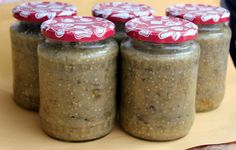 Conserva de salata de vinete - Galerie foto Saveur, Preserves, Pickles, Pantry, Mason Jars, Recipes, Drinks, Home Canning, Homemade