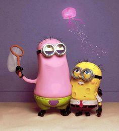 """Despicable Me"" meets ""Spongebob Squarepants"" (Minions as Patrick & Spongebob)"