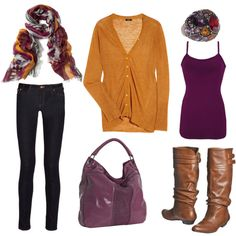 Orange and Purple, created by laura-meiers.polyvore.com