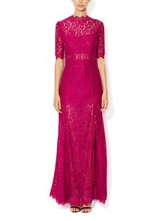 Scalloped Lace Gown by Femme D'Armes at Gilt - For Momzilla