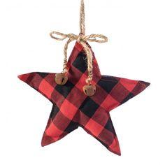 Fabric Christmas Ornaments, Christmas Gift Tags, Christmas Tree Decorations, Buffalo Plaid Ornaments, Primitive Christmas, Plaid Christmas, Country Christmas Crafts, Cabin Christmas, Christmas Trees
