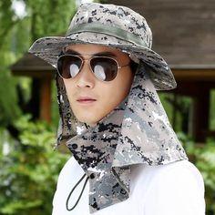 e05b758a42d UV camo sun protection hat for men fishing sun hats