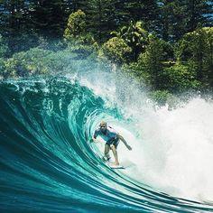 Aussie surf legend Mick Fanning taking the tube at Greenmount, Queensland Australia. Queensland Australia, Surfs Up, Surfboard, Waves, Clouds, Island, World, Nature, Instagram Posts