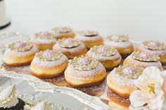 Jewelled jelly donuts by White Cakery Company. Delish!   Rebecca Chan Weddings and Events - www.rebeccachan.ca