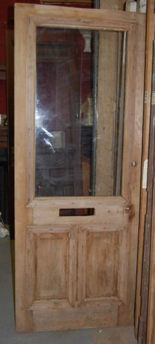 Vintage Pine Fir Cottage Door, mail slot, w/ window  in Antiques, Architectural & Garden, Doors | eBay