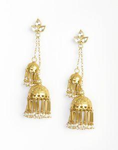 Silver Anusuya ES 1703 Jhumka Earrings