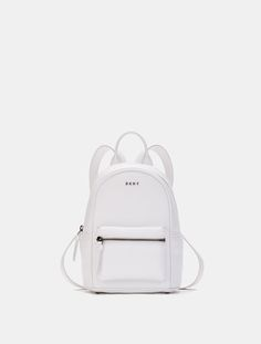 DKNY Heavy Nappa Leather Mini Backpack. #dkny #bags #leather #lining #backpacks #cotton #