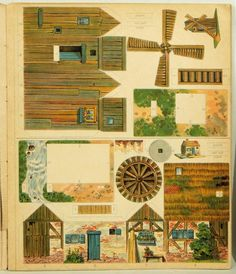 The Model Maker | Clifton CHROMOLITHOGRAPHS - UNCUT MODEL SHEETS Bingham