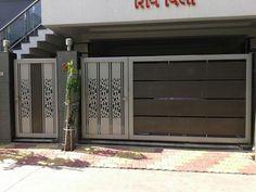 Home Gate Design, Gate Wall Design, Grill Gate Design, House Main Gates Design, Steel Gate Design, Front Gate Design, Door Design Interior, Main Door Design, Home Building Design