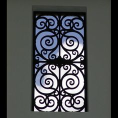 Faux Iron window insert - Master bath window