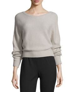 MAIYET Cashmere Ribbed Boat-Neck Sweater, Camel. #maiyet #cloth #