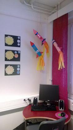 Harjoittelun avaruus-aiheiset askartelut Middle School Art, Art School, Rocket Ship Craft, Projects For Kids, Crafts For Kids, First Grade Science, 2nd Grade Art, Science Lesson Plans, Sistema Solar