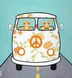 Ginger Floral Bus by Kilkennycat, via Flickr