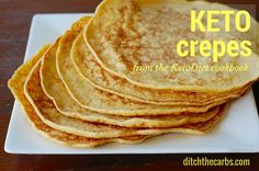 These are simply the best keto crepes. The recipe is from the Ketodiet cookbook… Keto Breakfast Smoothie, Low Carb Breakfast, Breakfast Recipes, Ketogenic Recipes, Low Carb Recipes, Cooking Recipes, Ketogenic Diet, Paleo Recipes, Banting Recipes