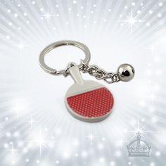 Schlüsselanhänger - Tischtennis Schlüsselanhänger Metall CSH09 - ein Designerstück von geschenkstueble-sulzberger bei DaWanda