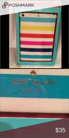 Kate Spade ♠️ KATE SPADE Hardcase for iPAD AIR Multi-Color Stripe kate spade Accessories Tablet Cases