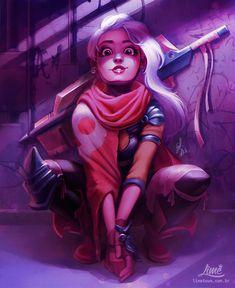 Manga Character Drawing Dystopian Girls on Behance - Art Mignon, Digital Art Girl, Cartoon Art, Cute Drawings, Cute Art, Character Design Inspiration, Art Inspo, Art Sketches, Amazing Art