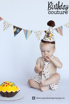 smash cake outfit for invite pics- my little boy!! So awesome to see him pinned! :D