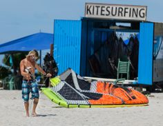 Aruba Kitesurfing photograph of a Aruba Kitesurfing container used to store kitesurfing equipment in Aruba by Tony Filson of Filcro Media