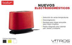 Estos electrodomésticos son sinónimo de innovación y calidad; tienen como principio que el buen diseño debe de ir de la mano con lo funcional y lo asequible.  Disponibles en varios colores. Sólo los encuentras en Vitros. #Vitrostienda