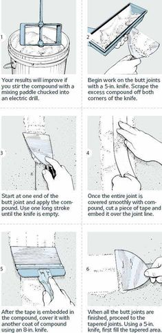 How to Finish Drywall: 18 Steps to Smooth Joints - Popular Mechanics.  If I learned how to do this, Tim would be so proud.